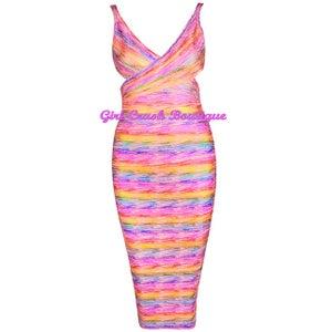 Image of Birthday Cake Bandage Dress