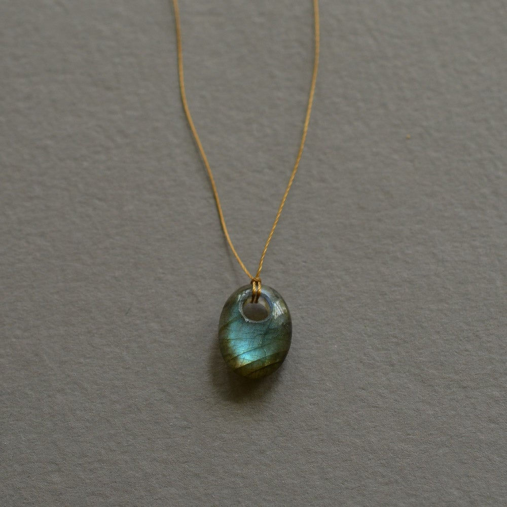 Image of Labradorite necklace on cord
