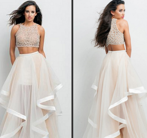 Image of Cute two piece homecoming dress
