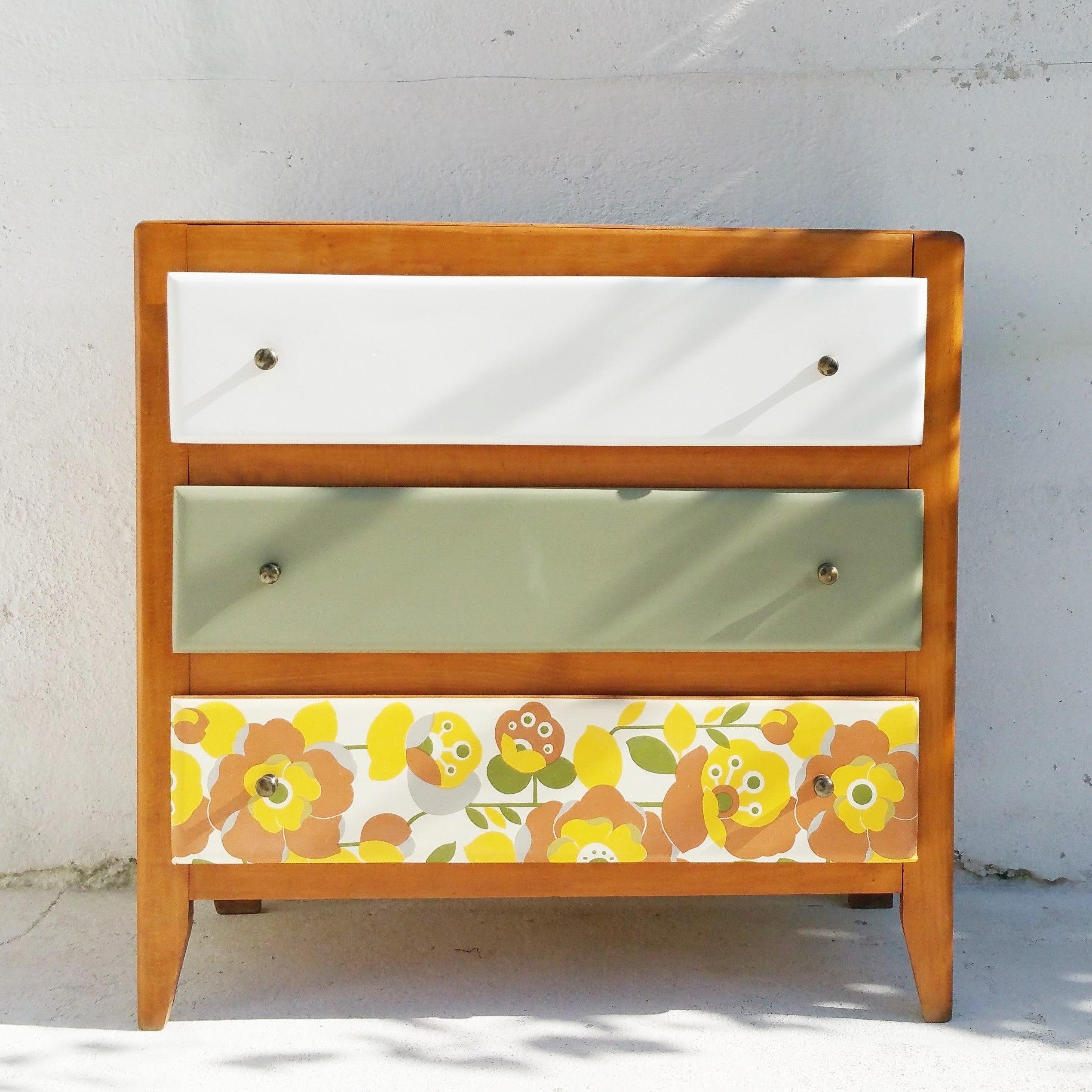 Commode chambre enfant-Vintage / fibresendeco - vannerie ... - Chambre Enfant Vintage