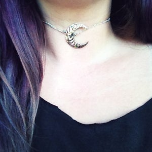 Image of Waning Moon Choker Necklace