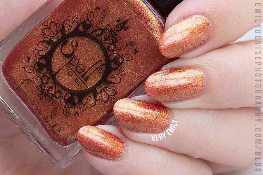 "Image of ~Wanker~ red/gold duochrome Spell nail polish ""Revenge of the Duds""!"