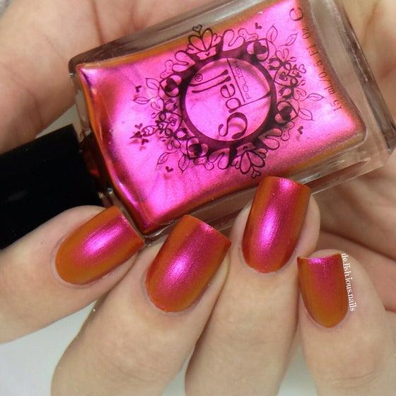 "Image of ~Gumshoe~ magenta/orange duochrome Spell nail polish ""Revenge of the Duds""!"