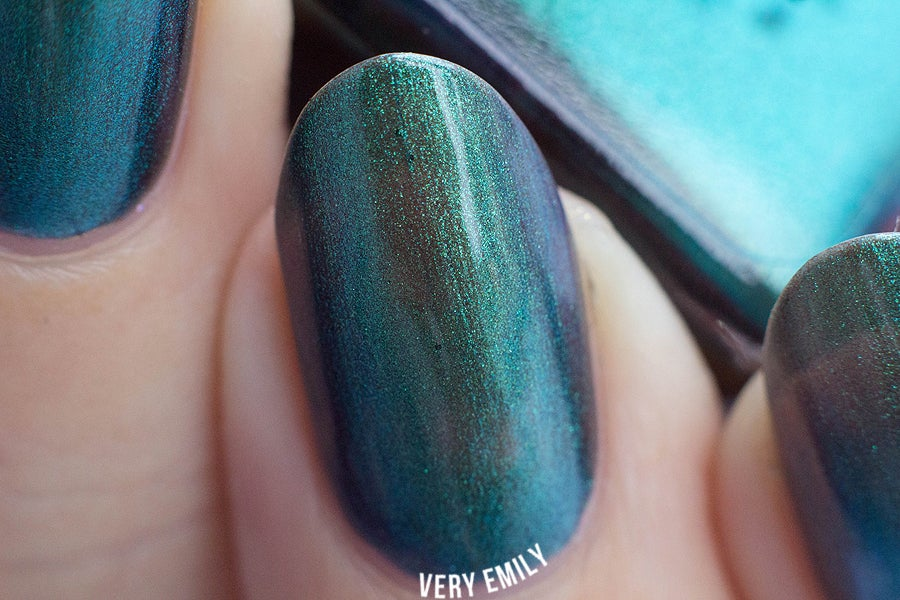 "Image of ~Curmudgeon~ turquoise/jade/violet multichrome Spell nail polish ""Revenge of the Duds""!"