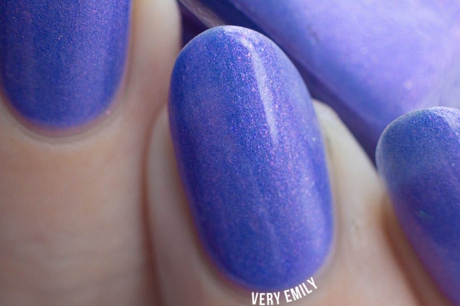 "Image of ~Nitwit~ periwinkle/pink duochrome w/flakies Spell nail polish ""Revenge of the Duds""!"