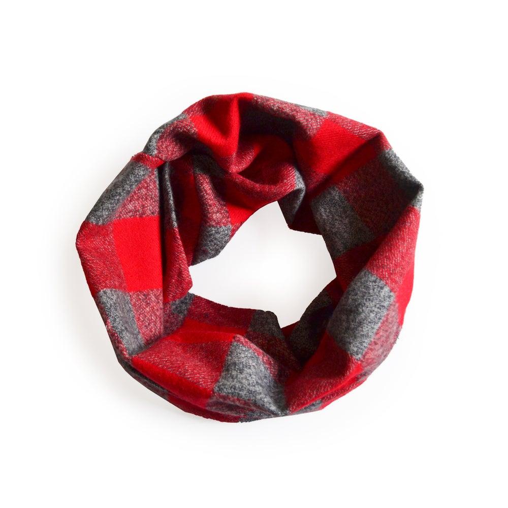 Image of Crimson Infinity Scarf - Kid's