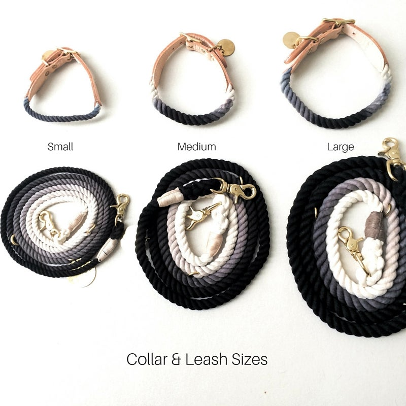 Image of Olive, Ombre Rope Lead