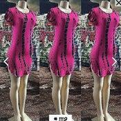 Image of Tie dye t shirt dress