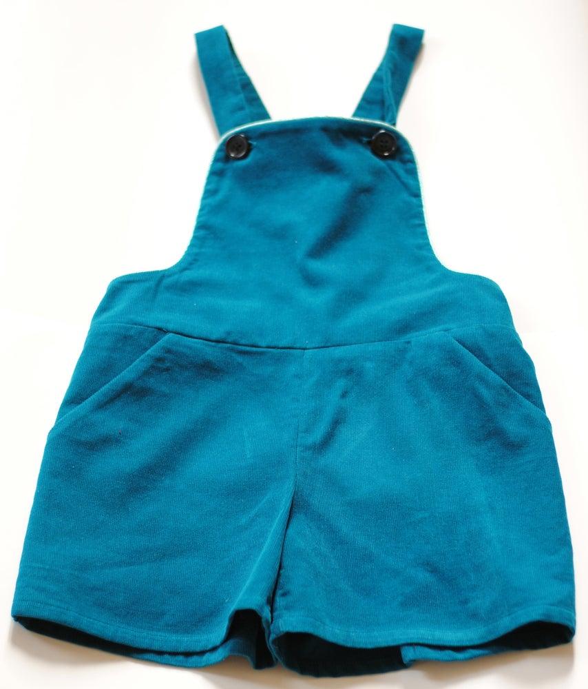 Image of - SOLDEE -50% - Salopette Ambassadeurs bleu canard / Overalls bleu canard