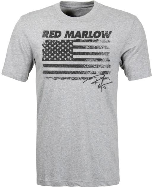"""Image of Red Marlow """"American Flag"""" T-Shirt - Lt. Grey"""