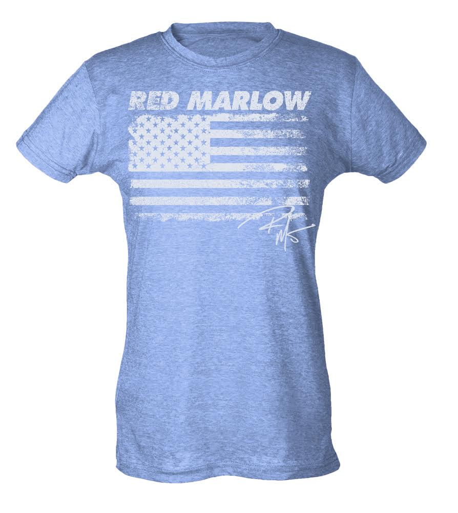 "Image of Red Marlow ""American Flag"" Tee - Lt. Blue"