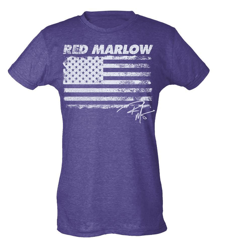 """Image of Red Marlow """"American Flag"""" Tee - Purple"""