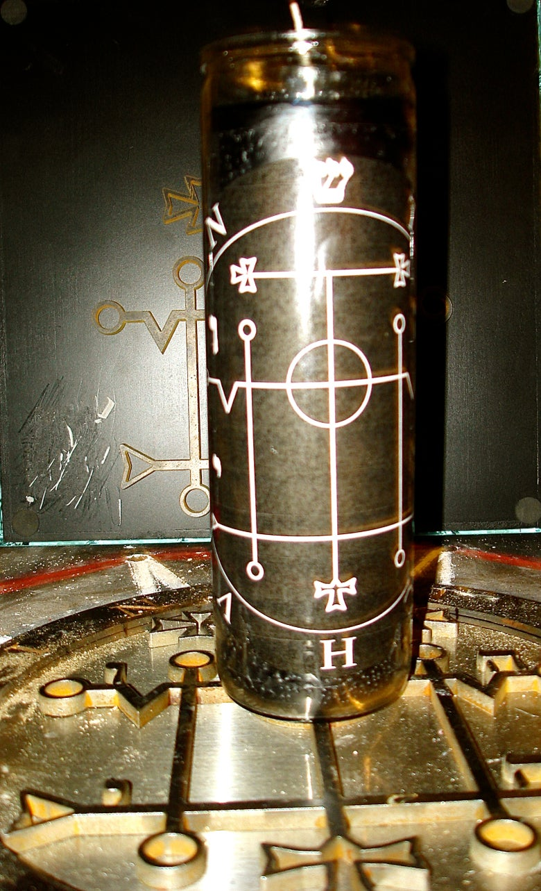 Image of Teloch Vovin Black Ritual Candle