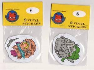 Image of TMNT Bebop and Rocksteady sticker set