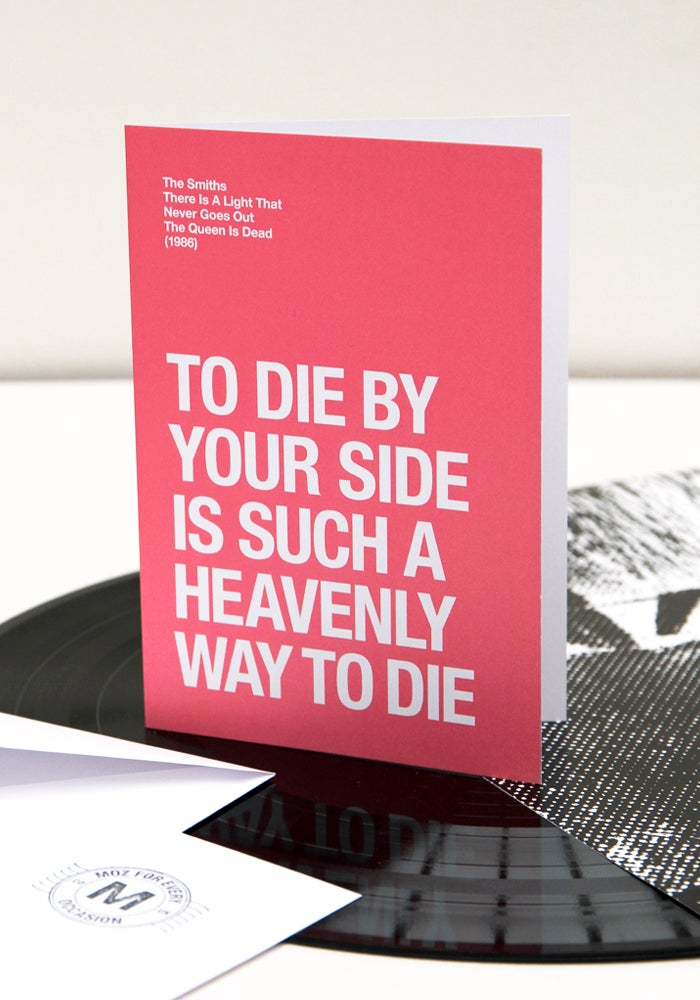 Image of To Die By Your Side – Valentines Day card