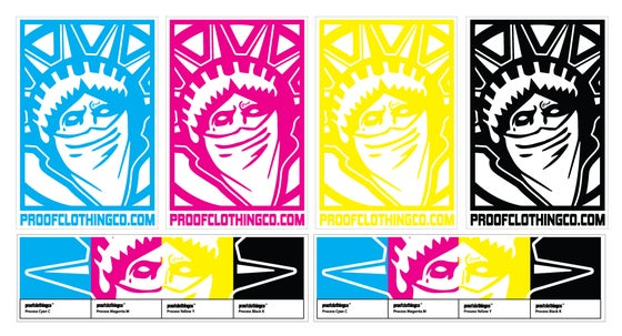 Image of CMYK Sticker Sheet