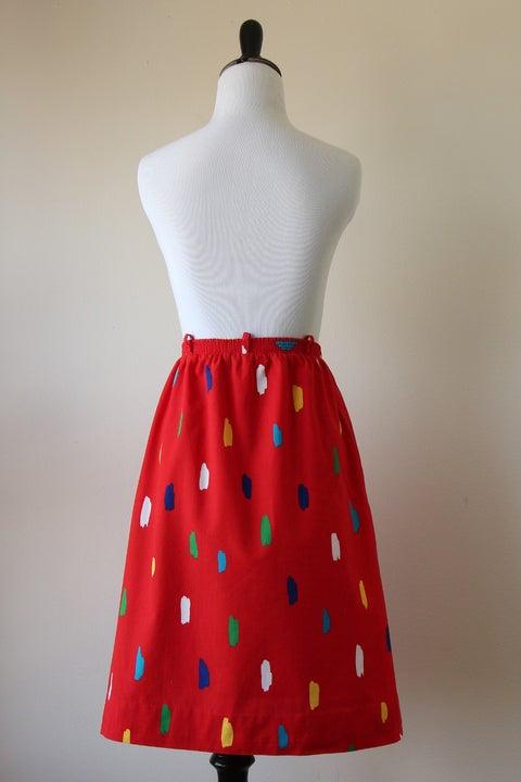 Image of SOLD Strokes Of Art Skirt