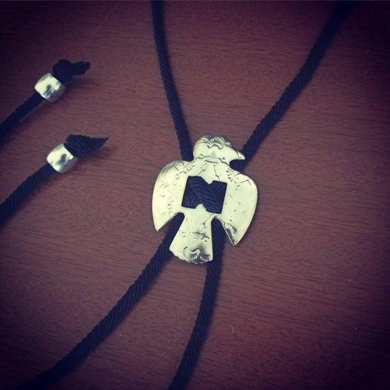Image of Thunderbird concho bolo tie necklace