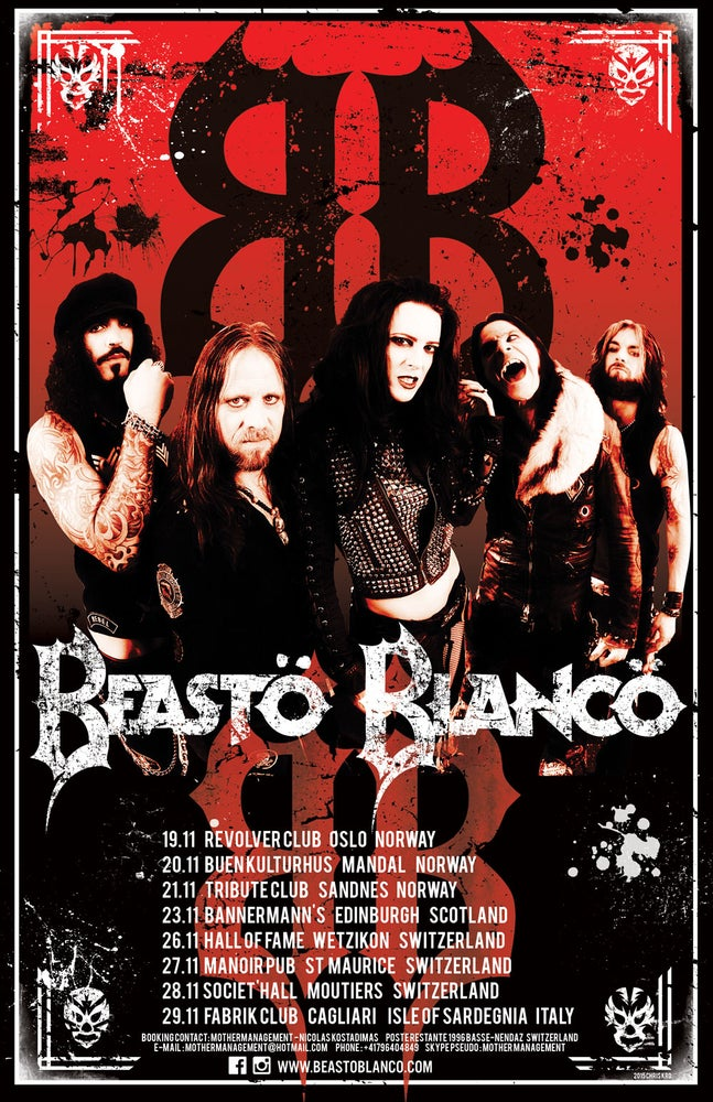 """Image of BEASTO BLANCO - 2015 - """"LIMITED"""" TOUR POSTER"""