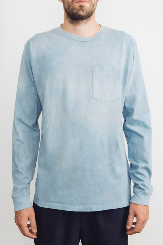 Image of Naturally Hand Dyed Indigo Costae Longsleeve