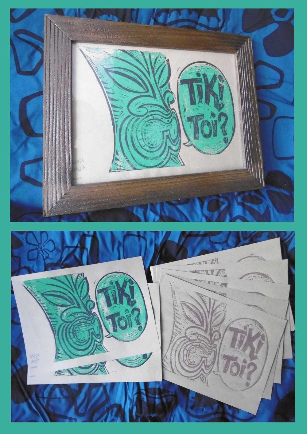 Image of TIKI TOI! LINOPRINT