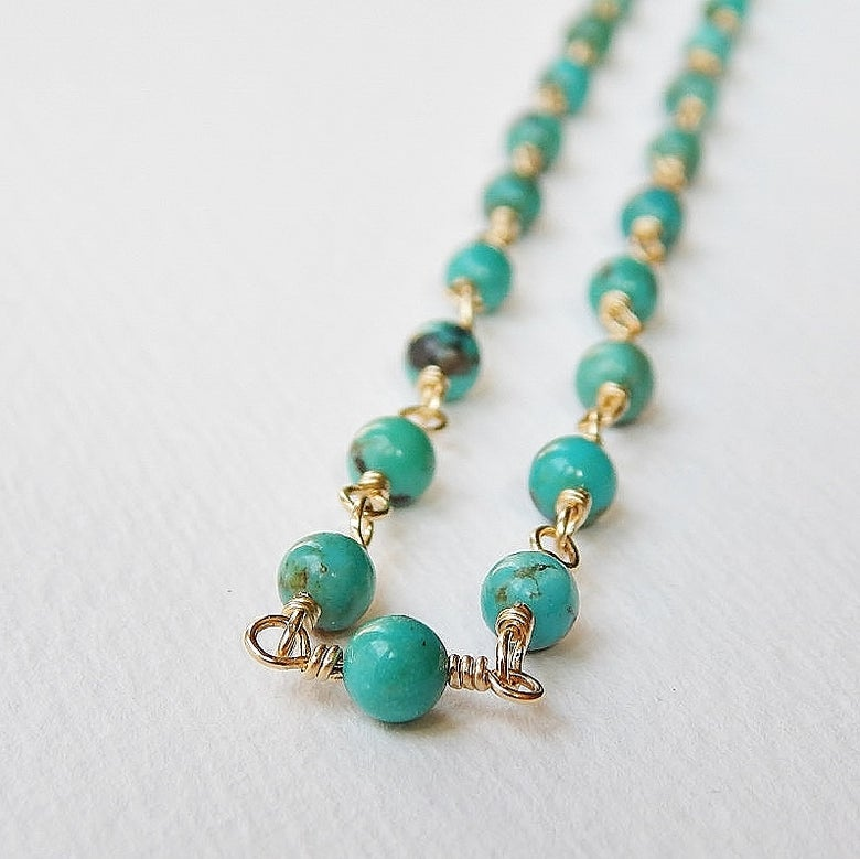 Image of Turquoise Necklace in Gold Fill
