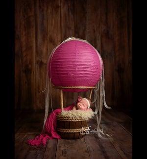 "Image of Woodsy Wonders Original ""NEWBORN"" Hot Air Balloon Basket {With Soft White Balloon}"