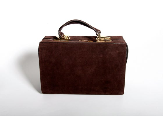 Image of Rosa Suitcase (Chocolate Brown)