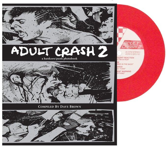 "Image of Adult Crash 2 photobook & RED vinyl 7"""