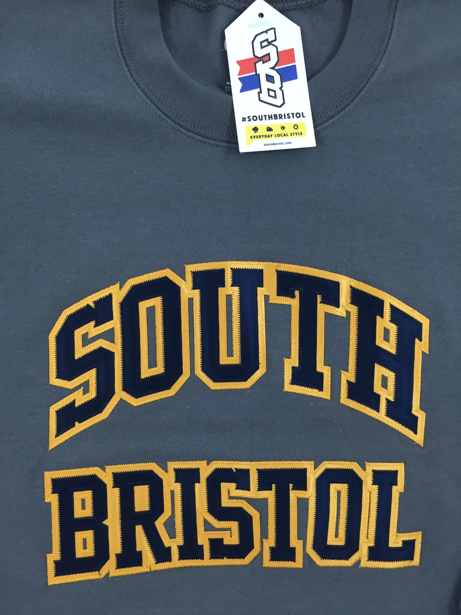 Image of Classic Sweatshirt (Grey, Navy & Gold)