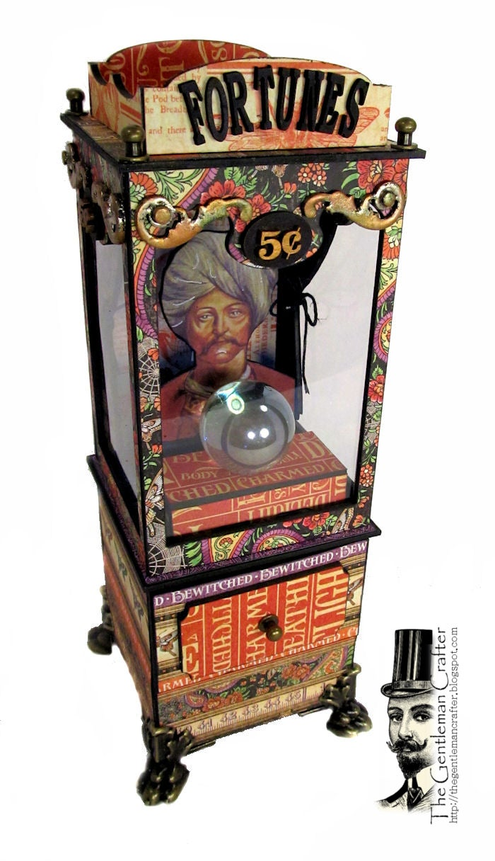 Image of The Vintage Fortune Telling Machine Tutorial- Instant Download