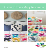 Image of Criss Cross Applesauce Quilt Pattern PDF