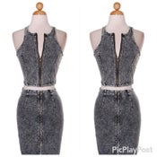 Image of denim 2 piece set