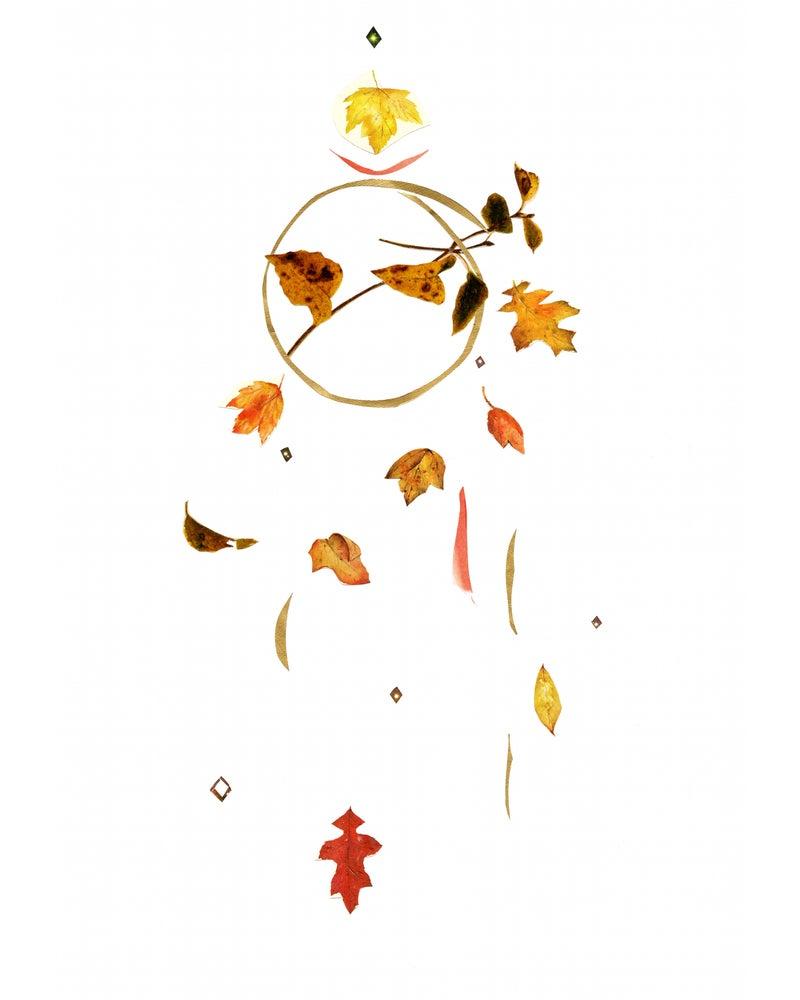 Image of fall leaves, giclée print