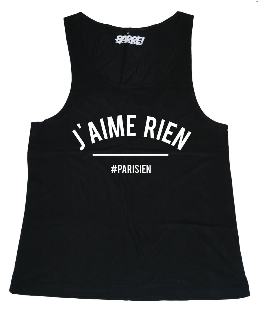 Image of Tank Top J'AIME RIEN BLACK