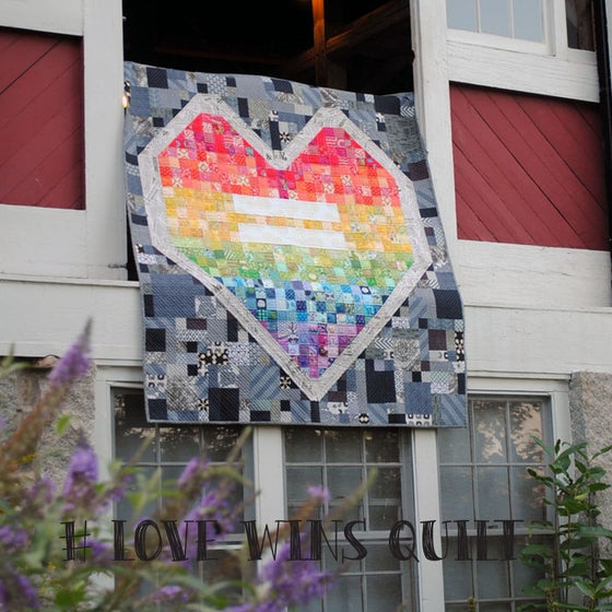 Image of #LoveWins Quilt Pattern