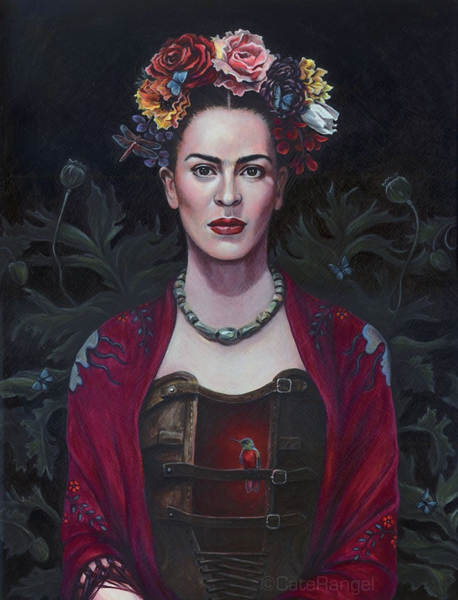 Image of Frida Kahlo - The Messenger - Special Edition Canvas Print 8x10