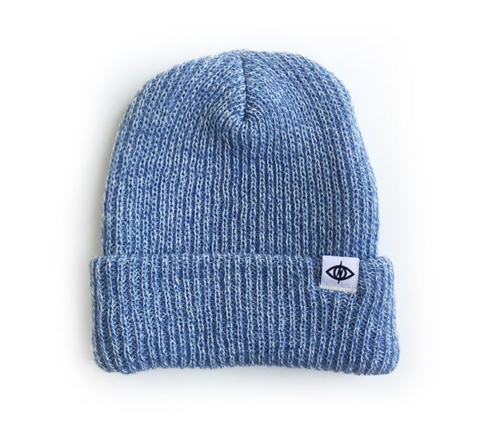 Image of WATCHCAP [ light blue marl ]