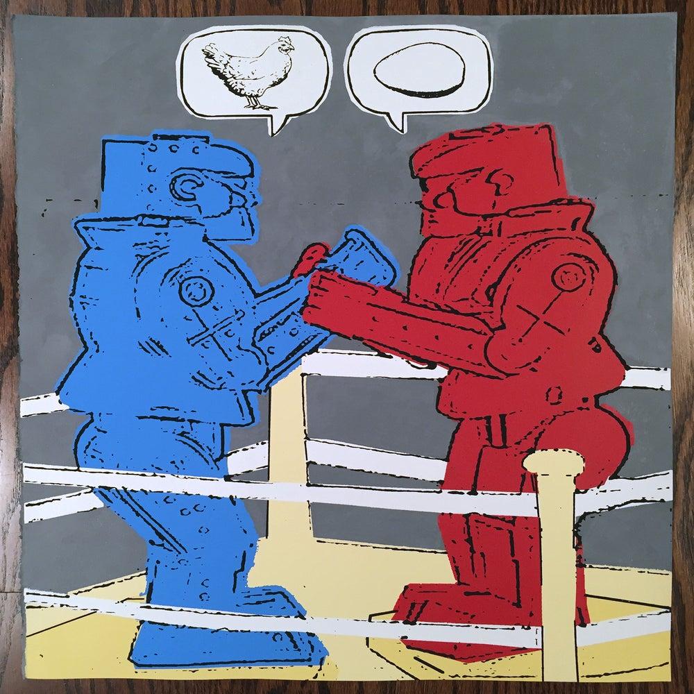"Image of ""Which Came First?"" - Rock'em Sock'em Robot Art Print"