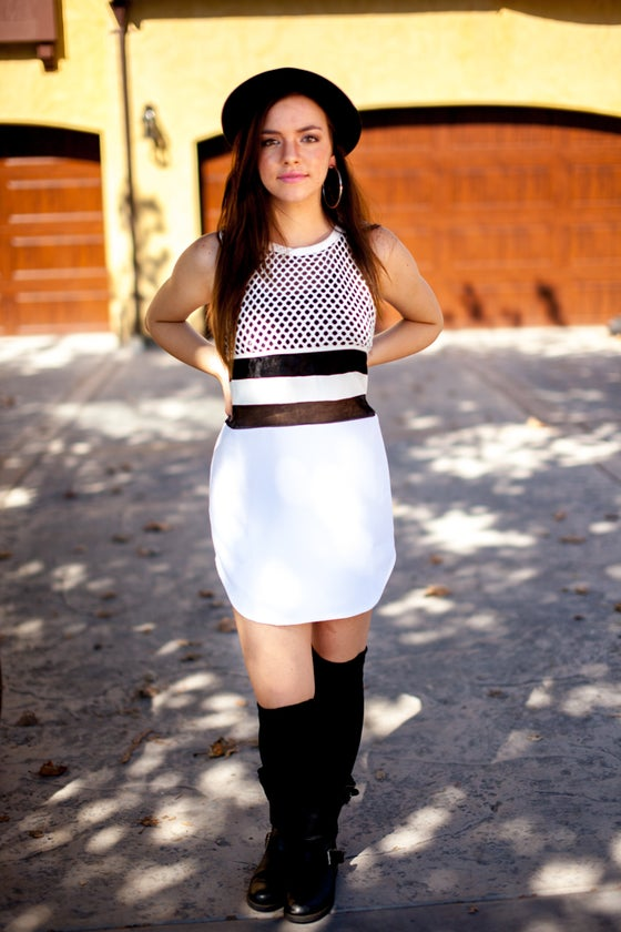 Image of White Jersey Dress