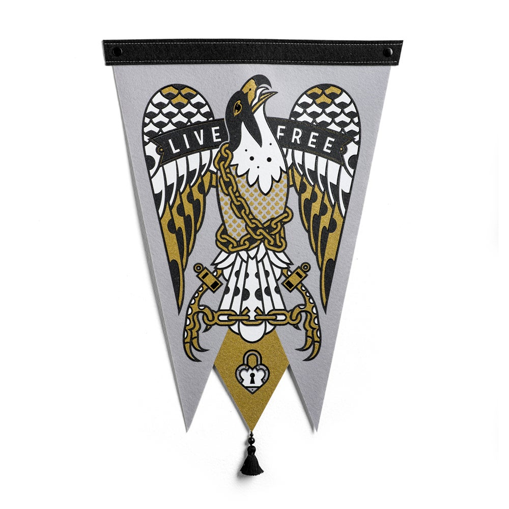 Image of Live Free Pennant