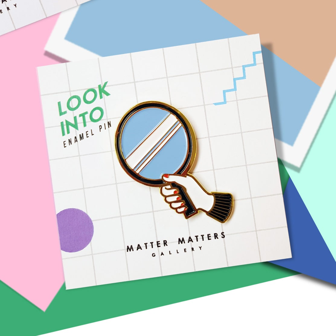 Image of Look into- Enamel pin