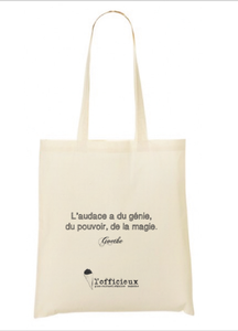 Image of l'officieux tote bag en série très limitée - modèle Goethe