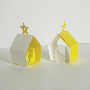 Image of Christmas Manger - Two Decorations