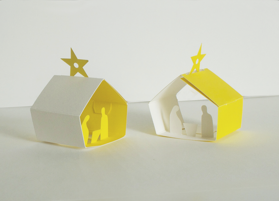 Image of 2 x Christmas Manger Set - Two Decorations
