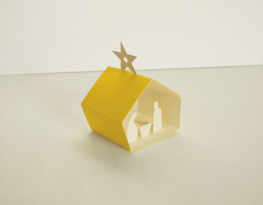 Image of 4 x Christmas Manger Set - Two Decorations