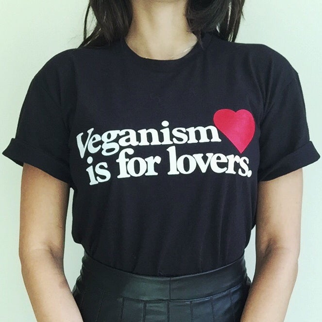 Image of Veganism is for lovers T-shirt
