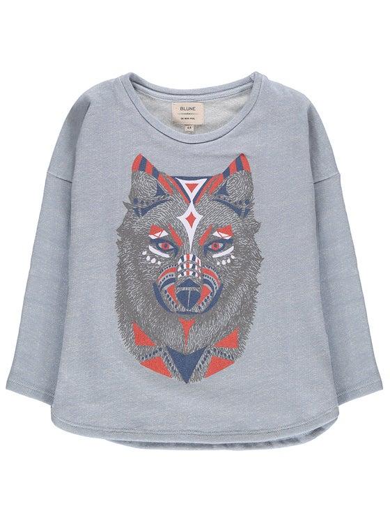Image of AW15/16 <> Sweat-shirt bébé garçon Blune « De Bon Poil »