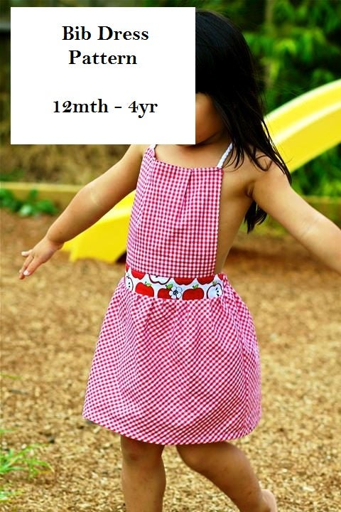 Image of Bib Dress Pattern PDF
