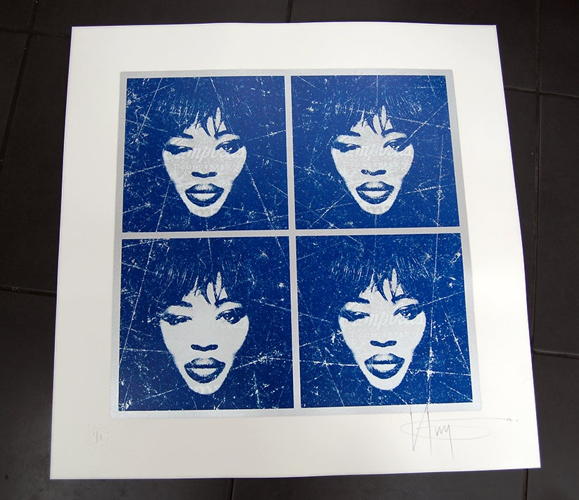 Image of NAOMI CAMPBELL'S - unique 1 off colour way  - SILVER + BLUE